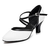 billige Moderne sko-Dame Moderne Lær Sandaler Joggesko Profesjonell Tykk hæl Hvit