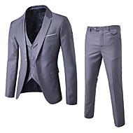 Pánské Jednobarevné Práce Jednoduchý Na běžné nošení Standardní Obleky Celý rok Bavlna Polyester Košilový límec