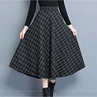 女性用 プラスサイズ お出かけ ブランコ マキシ スカート - カラーブロック