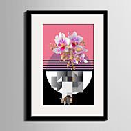Blomstret/Botanisk Landskap abstrakt Innrammet Lerret Innrammet Sett Veggkunst,PVC Materiale med ramme For Hjem Dekor Rammekunst Stue