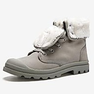 baratos Sapatos Masculinos-Homens Coturnos Lona Inverno Coturnos Botas Botas Cano Médio Preto / Amarelo Claro / Cinzento Claro