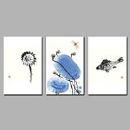 voordelige Prints-Afdrukken Op Opgespannen Doek Rustiek, Drie panelen Kangas Vaakatasoinen panoraama Print Muurdecoratie Huisdecoratie