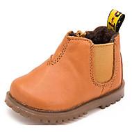 男の子 靴 ピッグスキン 秋 冬 コンフォートシューズ コンバットブーツ ブーツ 用途 カジュアル ブラック イエロー