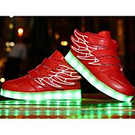 baratos Sapatos de Menino-Para Meninos Sapatos Courino Outono Conforto Tênis para Vermelho / Rosa claro / Azul Real