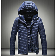 コート ダウン メンズ,カジュアル/普段着 ソリッド ダウン シンプル 長袖