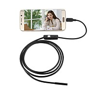 jingleszcn 7mm impermeável usb endoscopia camera android 1m hard cable inspection borescope snake cam pc windows