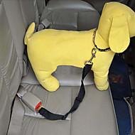 車内用ドッグリード/犬用シートベルト 調整可能/引き込み式 安全用具 ソリッド ナイロン