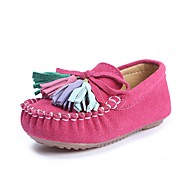cheap Girls' Shoes-Girls' Shoes Leatherette Spring Fall Comfort Flats Tassel for Casual Outdoor Dark Blue Fuchsia Pink