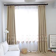 Propp Topp Dobbelt Plissert Blyant Plissert Window Treatment Land , Blomstret Stue Lin Materiale Blackout Gardiner Hjem Dekor For Vindu