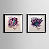 Dyr abstrakt fantasi Innrammet Lerret Innrammet Sett Veggkunst,PVC Materiale med ramme For Hjem Dekor Rammekunst Stue Kjøkken Spisestue