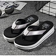 cheap Women's Slippers & Flip-Flops-Women's Shoes Rubber Leatherette Summer Comfort Slippers & Flip-Flops for Casual Gold Black Silver