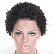 Naisten Aitohiusperuukit verkolla Brasilialainen Aidot hiukset Lace Front 130% Tiheys Kinky Curly Kihara Afro Kinky Afro Jheri Curl