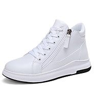 cheap Women's Sneakers-Women's Shoes Leatherette Fall / Winter Fur Lining / Comfort Sneakers Round Toe Lace-up for Outdoor White / Black