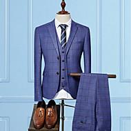 Χαμηλού Κόστους Ανδρική Μόδα & Ρούχα-Ανδρικά Στολές Δουλειά Επιχειρησιακό έντυπο-Καρό Λεπτό / Μακρυμάνικο