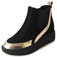 お買い得  レディースブーツ-レディース 靴 PUレザー 冬 コンフォートシューズ ブーツ 用途 ゴールド ブラック