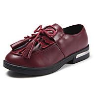 女の子 靴 本革 秋 冬 コンフォートシューズ オックスフォードシューズ 用途 カジュアル ブラック ダークブラウン