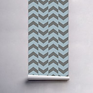 Geometrisk Tapet til Hjemmet Moderne Tapetsering , Pvc / Vinyl Materiale Selvklebende bakgrunns , Tapet