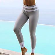 Žene Crn Sive boje Spandex Jednobojni Prugasti uzorak Srednje Šivena čipka Print Legging