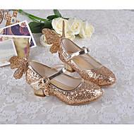 billige Sko til blomsterpiger-Pige Sko PU Forår Tiny Heels for teenagere / Sko til blomsterpiger Hæle for Afslappet Sølv / Blå / Lys pink