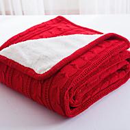 Superweich,Handgemacht Solide Polyester Decken