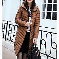 Dame I-byen-tøj Lang Dynejakke - Ensfarvet