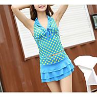 Žene Jednobojni Jednodijelno Kupaći kostimi Plava Djetelina Bijela