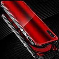 billiga Mobil cases & Skärmskydd-fodral Till Apple / iPhone X iPhone X Stötsäker Stötsäkert fodral Enfärgad Hårt Metall för iPhone X