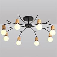 8 hoder nord-europa tre art deco metall grøft tak lys stue spisestue flush mount