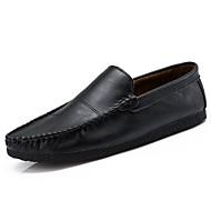メンズ 靴 ラバー 冬 秋 モカシン ローファー&スリップアドオン のために ブラック Brown カーキ色