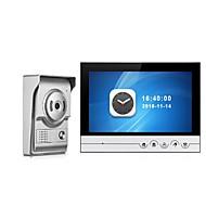 9 tommer farveoptagelse monitor video dør telefon intercom system med vandtæt dække udendørs cmos kamera