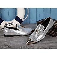 Недорогие -Для мужчин обувь Натуральная кожа Все сезоны Удобная обувь Оригинальная обувь Туфли на шнуровке Пряжки Назначение Свадьба Для вечеринки /