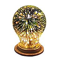 1pc a19 (a60) e27 bulb de decorare 3d 4w lumina de vacanță lumina de noutate Crăciun decorat ac85-265v