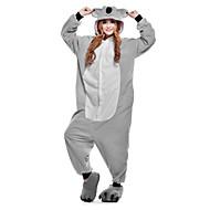 cheap -Adults' Kigurumi Pajamas Koala Onesie Pajamas Polar Fleece Gray Cosplay For Men and Women Animal Sleepwear Cartoon Festival / Holiday Costumes