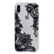 billiga Mobil cases & Skärmskydd-fodral Till Apple iPhone X / iPhone 8 Genomskinlig / Läderplastik / Mönster Skal spetsar Utskrift Mjukt TPU för iPhone X / iPhone 8 Plus / iPhone 8
