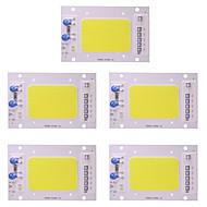 5 buc 50w led cob cip ac 110 - 130v inteligent pentru diy reflector lumina reflectoarelor cald / cool albe