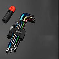 längerer Sechskantschlüssel Satz runder Kopf t-Typ 5mm / 3mm6 Winkelkombination Schraubendreher neunteiliger Werkzeugsatz im Original * 1