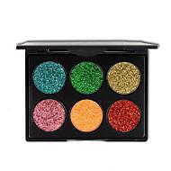billiga Ögonmakeup-6 färg glitter ögonskugga smink guldlökpulver sequined ögonskugga kosmetika