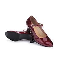 billige Moderne sko-Dame Moderne sko Kunstlær Joggesko Kustomisert hæl Kan spesialtilpasses Dansesko Rød