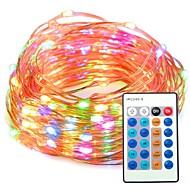 33ft multi kleur dimbaar met afstandsbediening waterdicht 100 led string koperdraad lichten voor feest