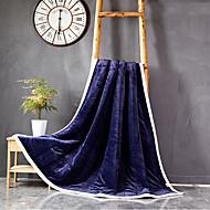 Superweich,Einfarbig Natur Reine Baumwolle Decken