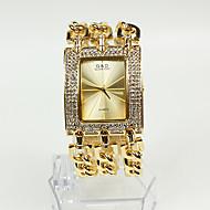 billige Quartz-Dame Modeur / Armbåndsur Japansk Afslappet Ur Legering Bånd Glitrende Guld / To år / Sony SR626SW