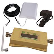 mini intelligent LCD-skjerm omslag 3g980 2100mhz mobiltelefon signal booster repeater med utendørs panel antenne / innendørs pisk antenne