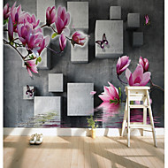 cheap Wallpaper-Floral Art Deco 3D Home Decoration Contemporary Classical Rustic Wall Covering, Canvas Material Adhesive required Mural, Room Wallcovering