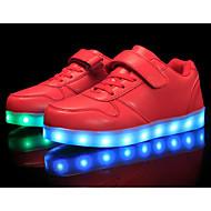 Meisjes Schoenen Kunstleer Herfst Winter Comfortabel Sneakers Voor Causaal Wit Rood Blauw Roze