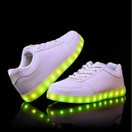 Men's Light Up Shoes PU(Polyurethane) Fall / Winter Comfort Sneakers White / Black