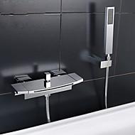 Современный На стену Водопад Ручная лейка входит в комплект Хром , Смеситель для ванны