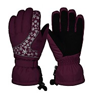 Luvas de Esqui Unisexo Dedo Total Manter Quente Cobertura Esqui Equitação Exercicio Exterior Inverno
