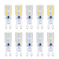 YWXLight® 10pcs 5W G9 LED Bi-pin Lights 22SMD 2835 Warm White Cold White Natural White 300-400lm AC 220V/110V