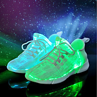 お買い得  メンズ アスレチックシューズ-男性用 靴 繊維 春 夏 ライトアップシューズ コンフォートシューズ アイデア アスレチック・シューズ のために カジュアル パーティー ホワイト