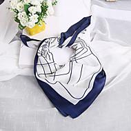 女性用 プリント シルク, 幾何学模様 四角形